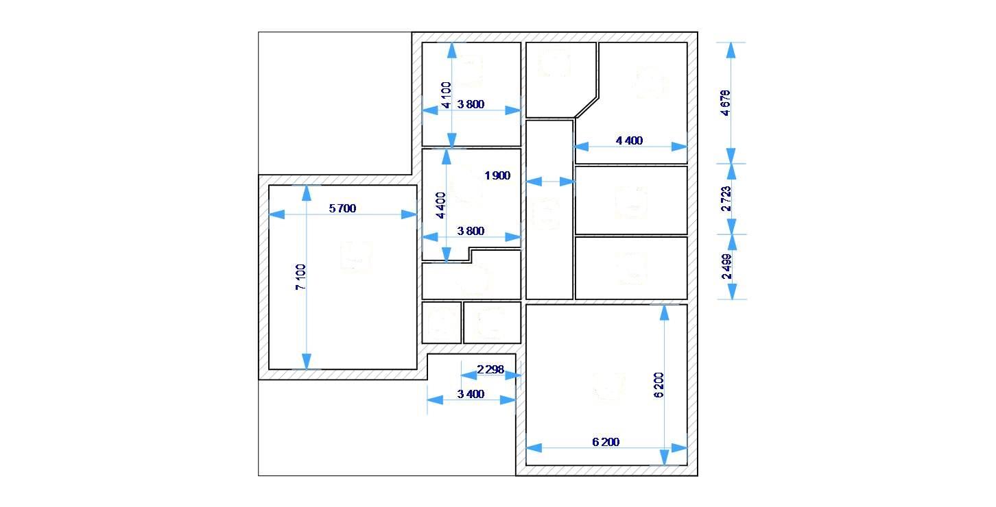 схема фундаменты домов с гаражом
