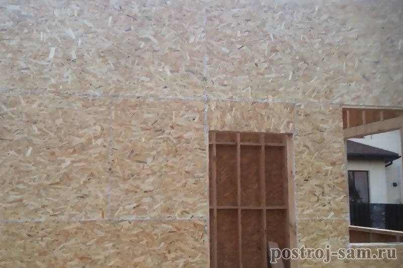 обшивка стен OSB-плитой снаружи