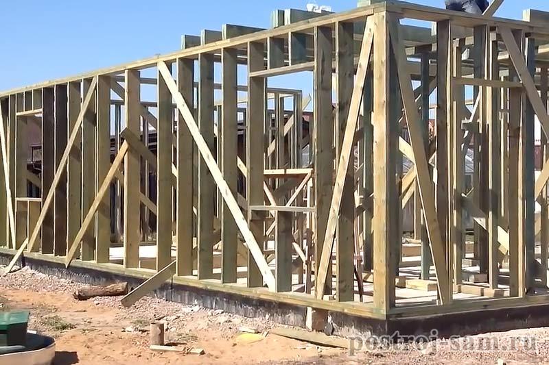 укрепление стен каркасного дома