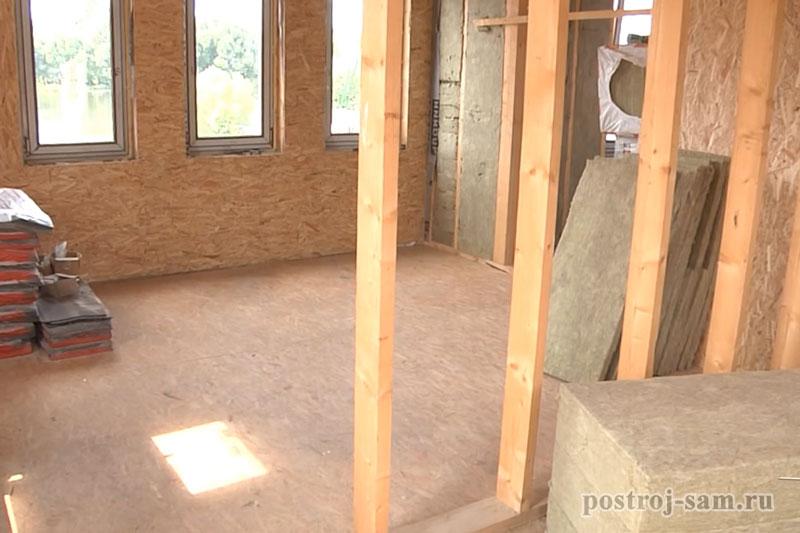 устройство внутренних стен каркасного дома